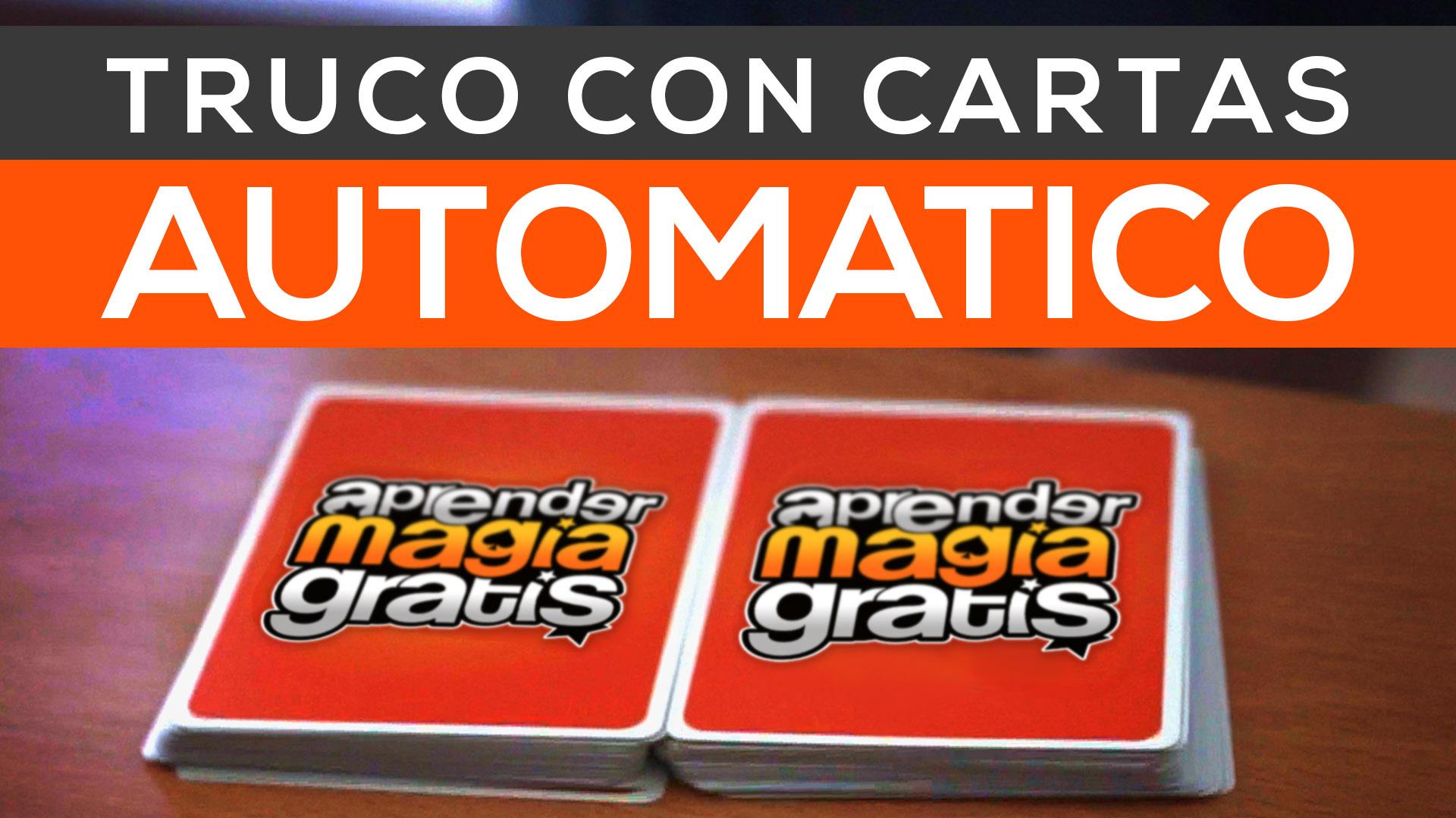 truco de magia revelado con cartas truco automatico