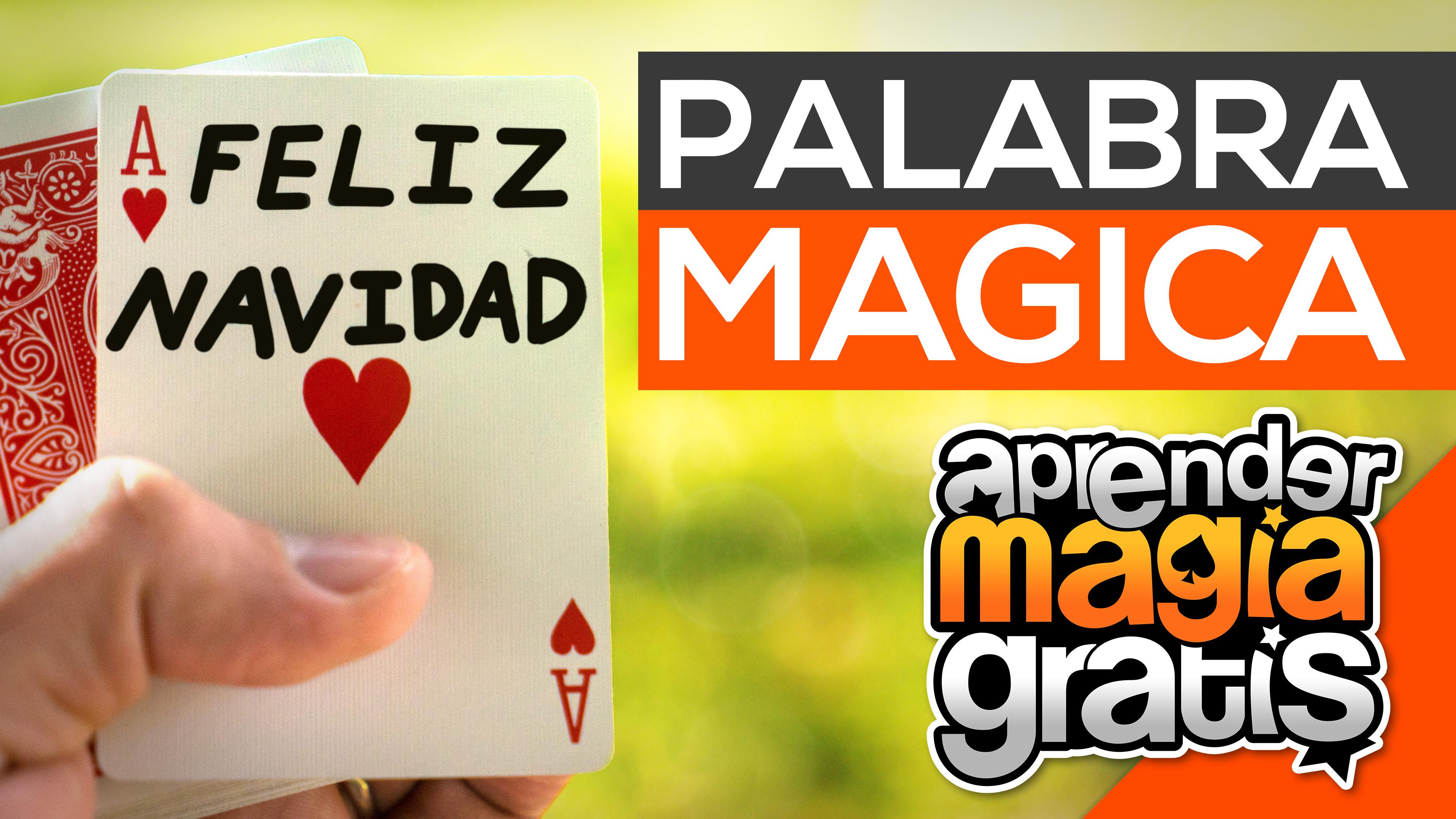 Magia con cartas y palabra mágica | Truco de magia revelado