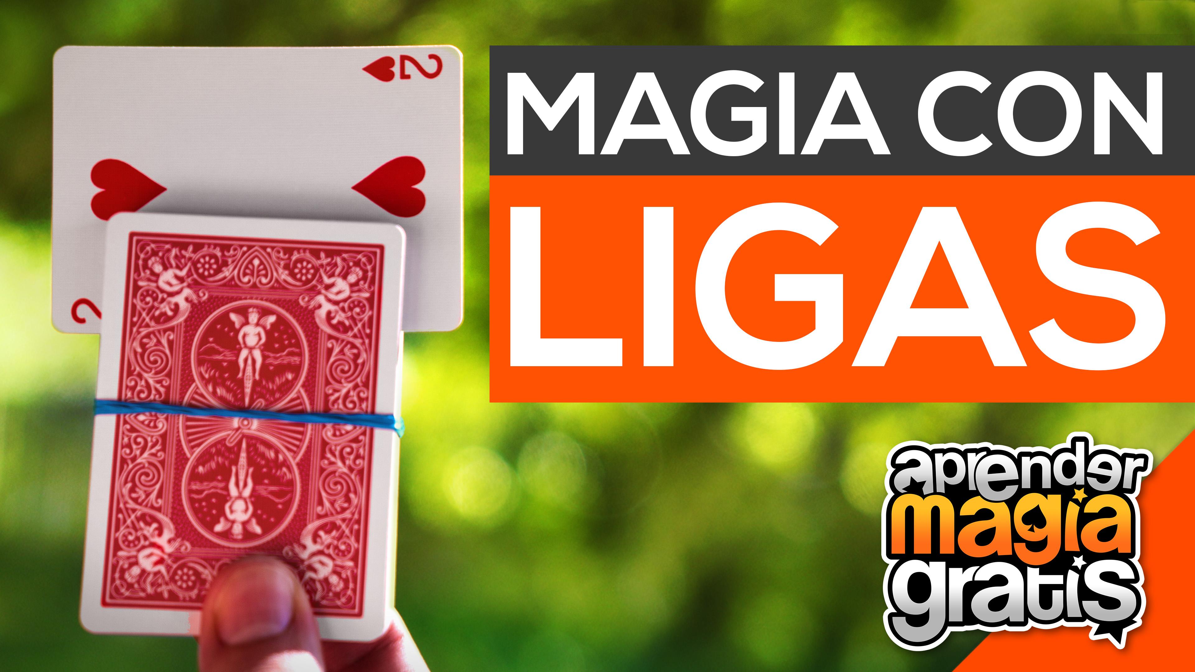 Trucos de magia revelado con ligas bandas elasticas o gomitas y cartas